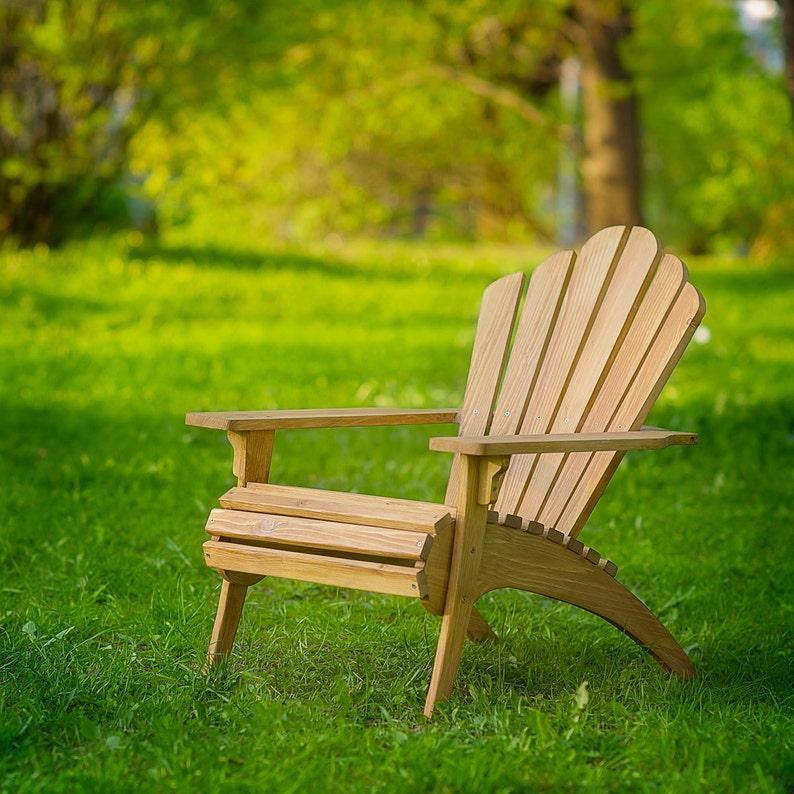 Premium Oak Adirondack Chair