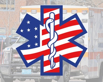 EMS | EMT | Paramedic | Emblem Glossy UV/Water Resistant Sticker (5 to Choose from), Sold Individually