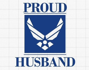 Proud Air Force *Family Member* Indoor/Outdoor Vinyl Decal - 86 Colors Available