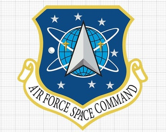 US Space Force | Space Command | Emblem Glossy UV/Water Resistant Sticker (2 to Choose from), Sold Individually
