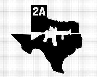 2A Texas State (2 Styles Available) Indoor/Outdoor Vinyl Decal - 86 Colors Available