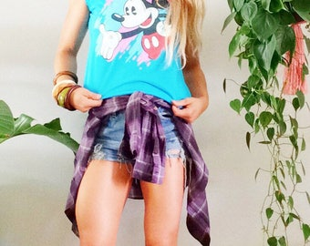 Vintage 1980s 70s 1970s Mickey Mouse Muscle Tee S Small M Medium L Large 80s Mickey Shirt Grunge Style Disney New Wave 90s