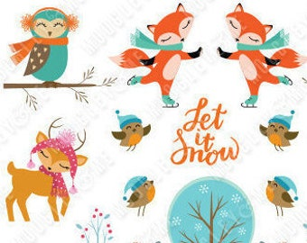 Winter Planner Stickers for your Erin Condren Life Planner, Happy Planner, or any planner!