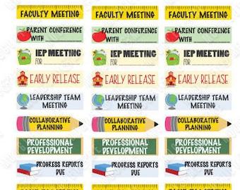Teacher Planner Sticker Sheet for your Erin Condren Life Planner, Teacher Planner, Happy Planner, or any monthly planner!