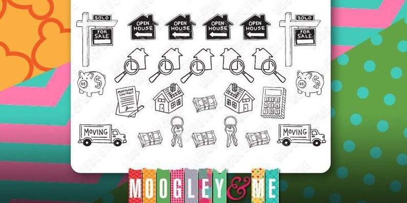 House Hunting Moving Planner Sticker Sheet for your Erin image 0