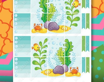 Under The Sea Nautical Planner Sticker Kit for your Erin Condren Life Planner, Happy Planner, or any daily planner!