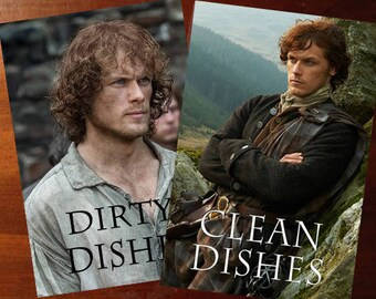 Outlander Clean Dirty Dishwasher | Jamie Fraser | MagnetGeek Kitchen | Clean Dirty Magnet