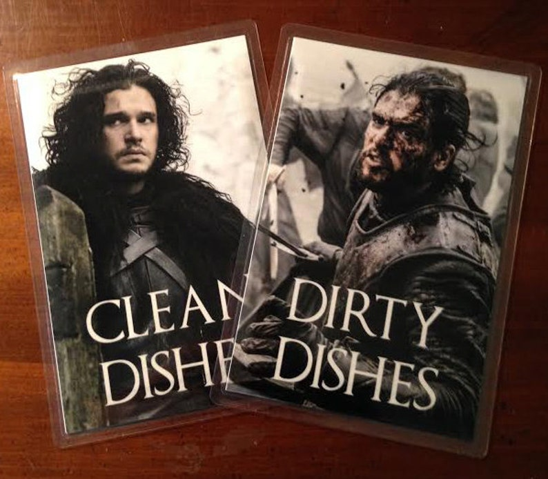 Jon Snow  Game of Thrones Reversible Dishwasher Magnet  Geek image 0