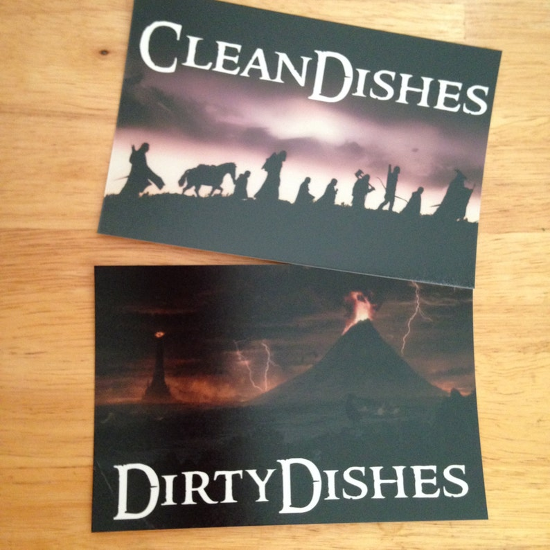 Lord of the Rings Reversible Dishwasher Magnet  Geek Kitchen image 0
