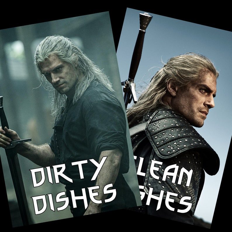 Geralt of Rivia  The Witcher Reversible Dishwasher Magnet  image 0