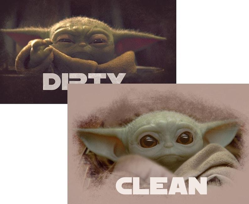 Star Wars Baby Yoda / Child / Reversible Dishwasher Magnet  image 0