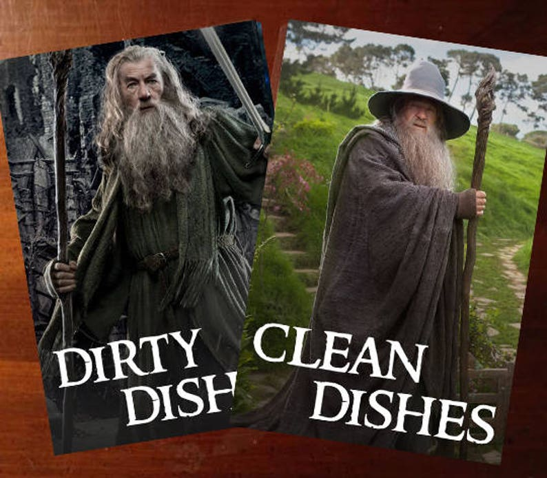 Gandalf  Lord of the Rings Reversible Dishwasher Magnet  image 0