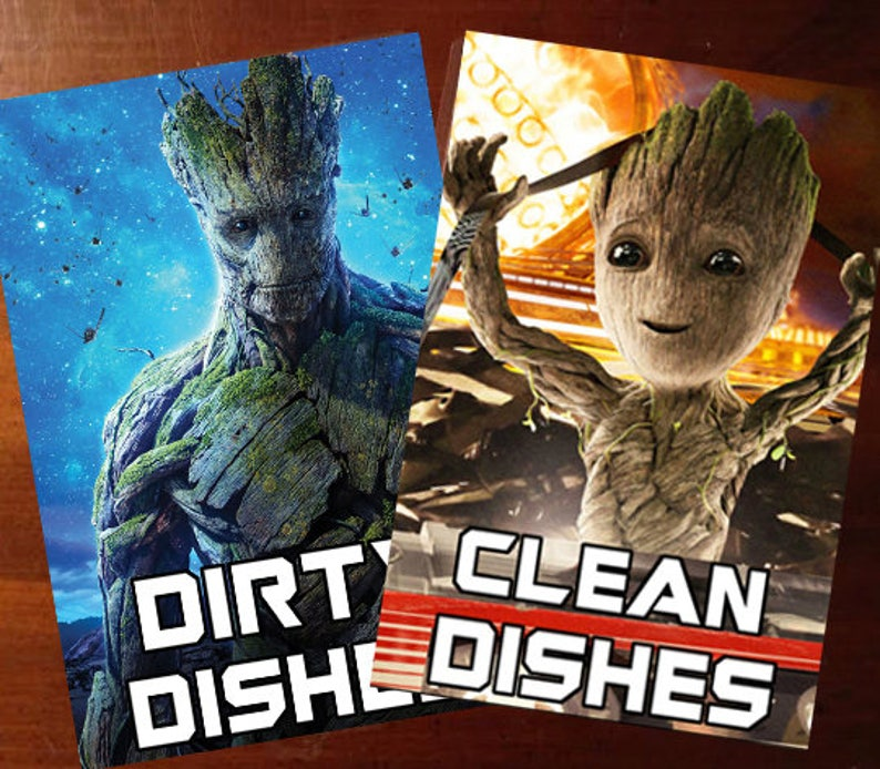 Groot Guardians of the Galaxy  Reversible Magnetic Dishwasher image 0