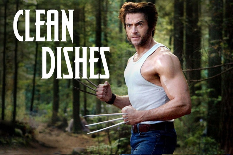 Wolverine/Logan Reversible Magnetic Dishwasher Sign  Geek image 0