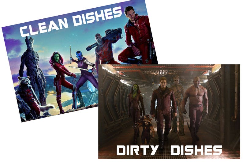 Guardians of the Galaxy Reversible Magnetic Dishwasher Sign  image 0