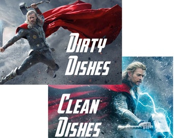 """Thor Reversible Magnetic Dishwasher Sign 