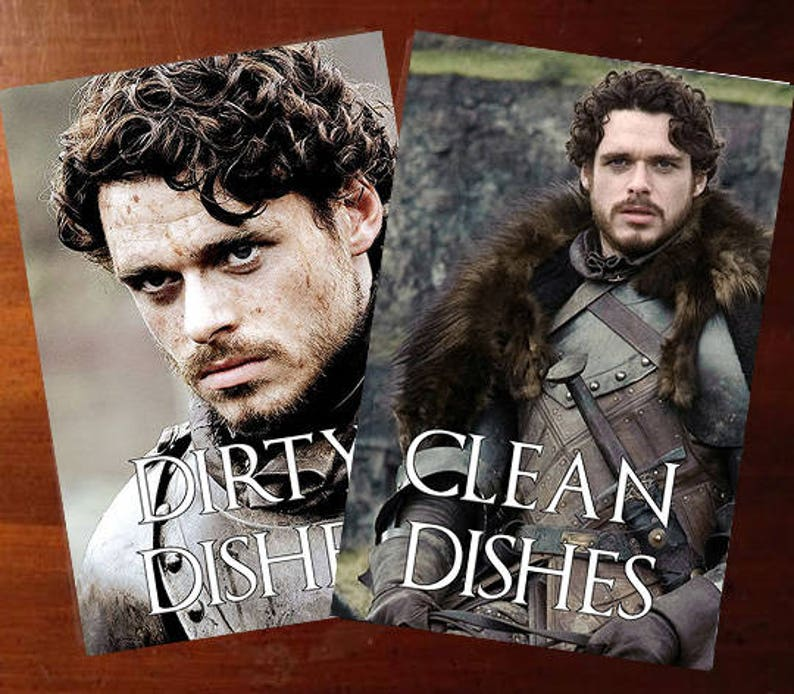 Robb Stark   Game of Thrones Reversible Dishwasher Magnet  image 0