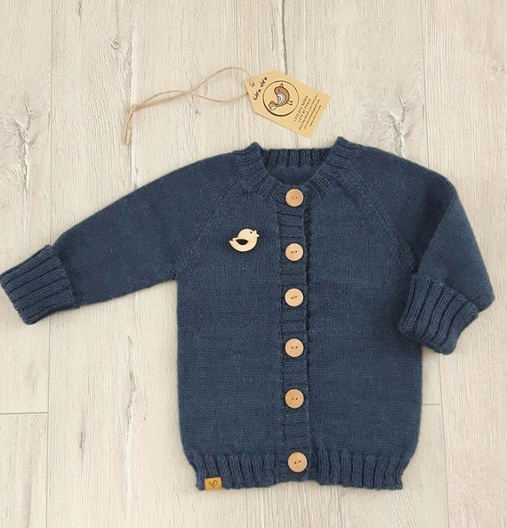 6381bd471c8e Hand knit baby sweater knitted alpaka cardigan boy  girl