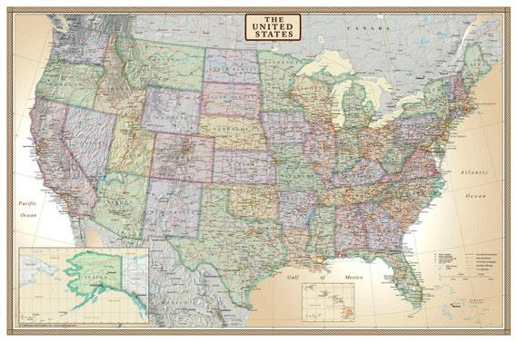 Swiftmaps United States USA US Executive Modern Day Antique   Etsy