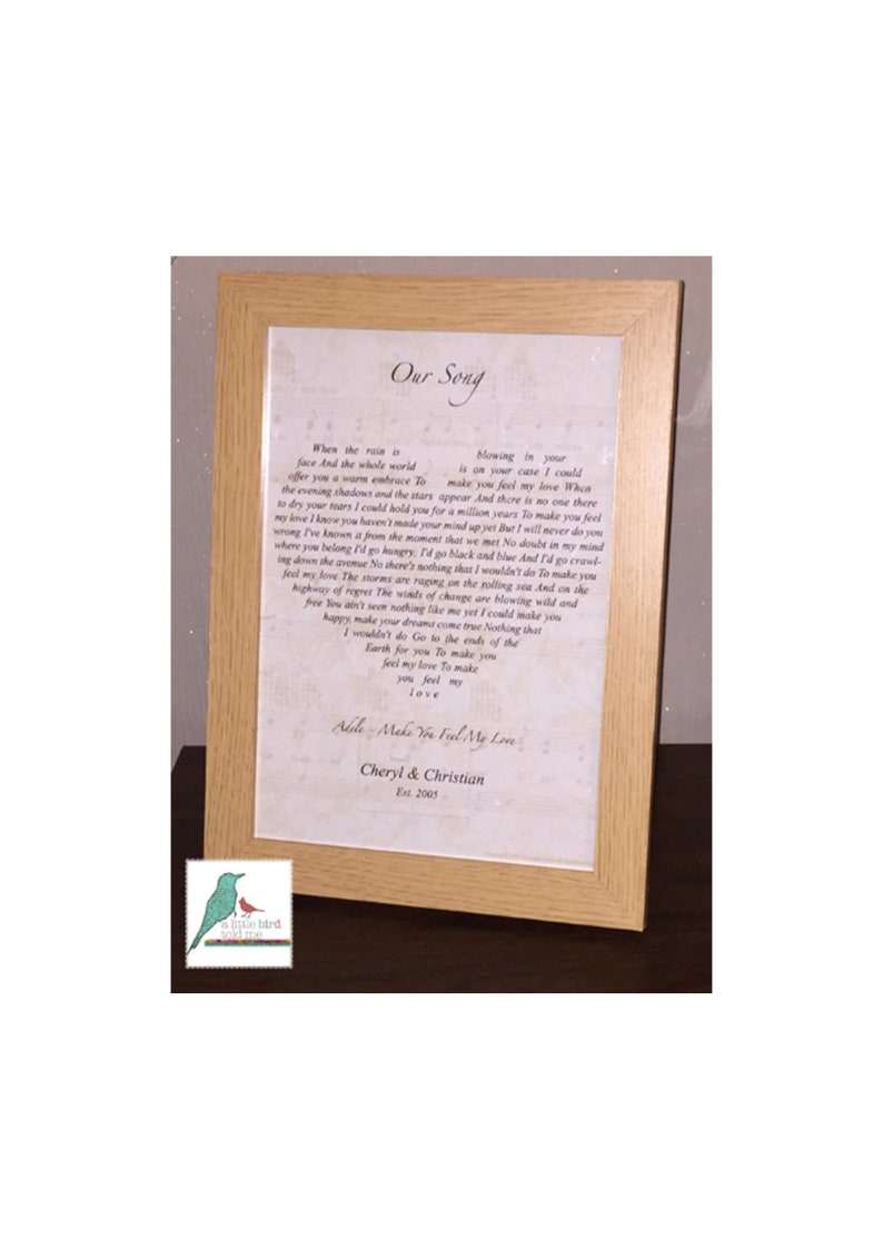 Song lyrics heart print heart shape Christmas Gift ...