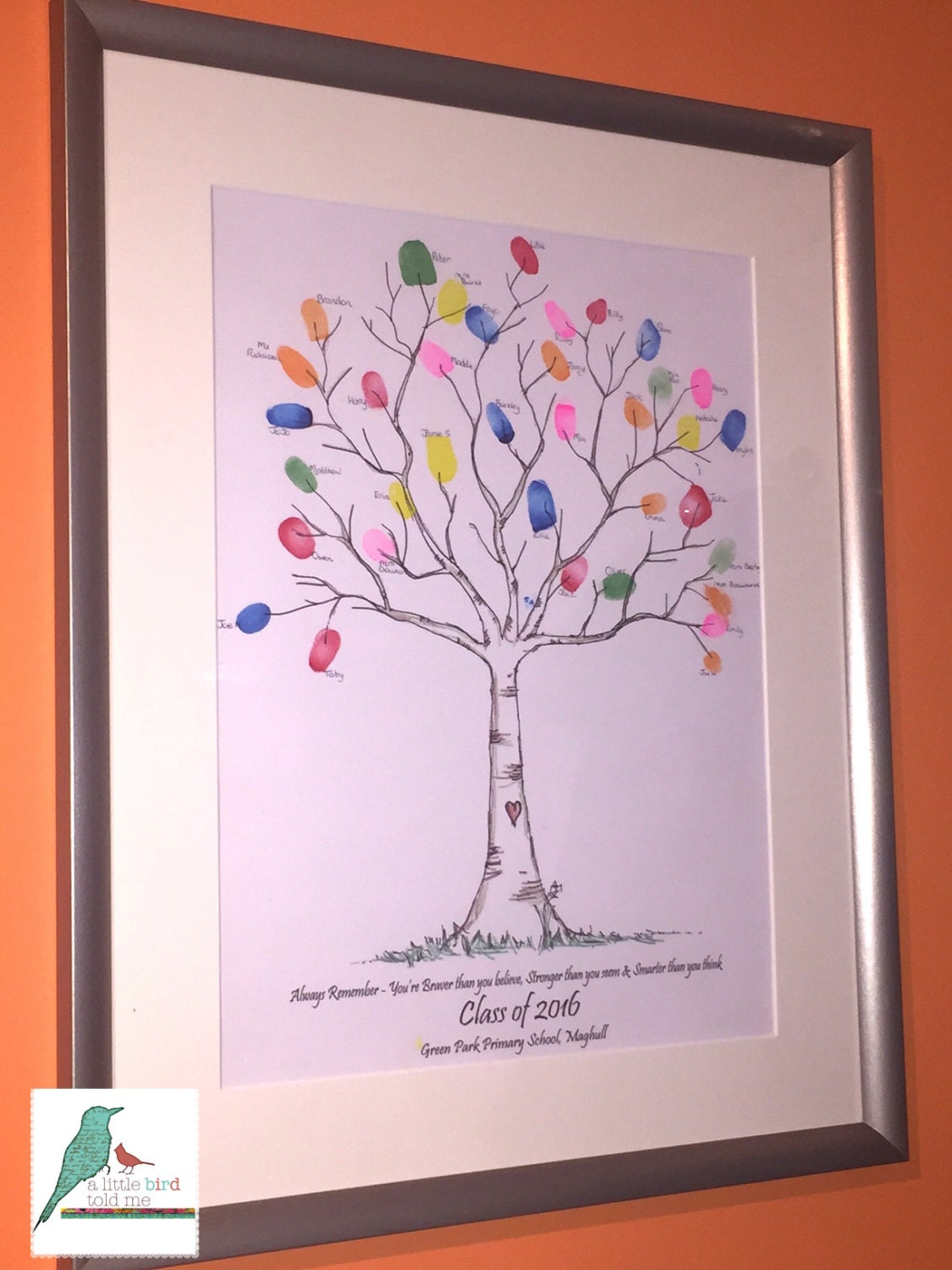 Personalised Fingerprint Tree School Leaver / Nursery Leaver | Etsy