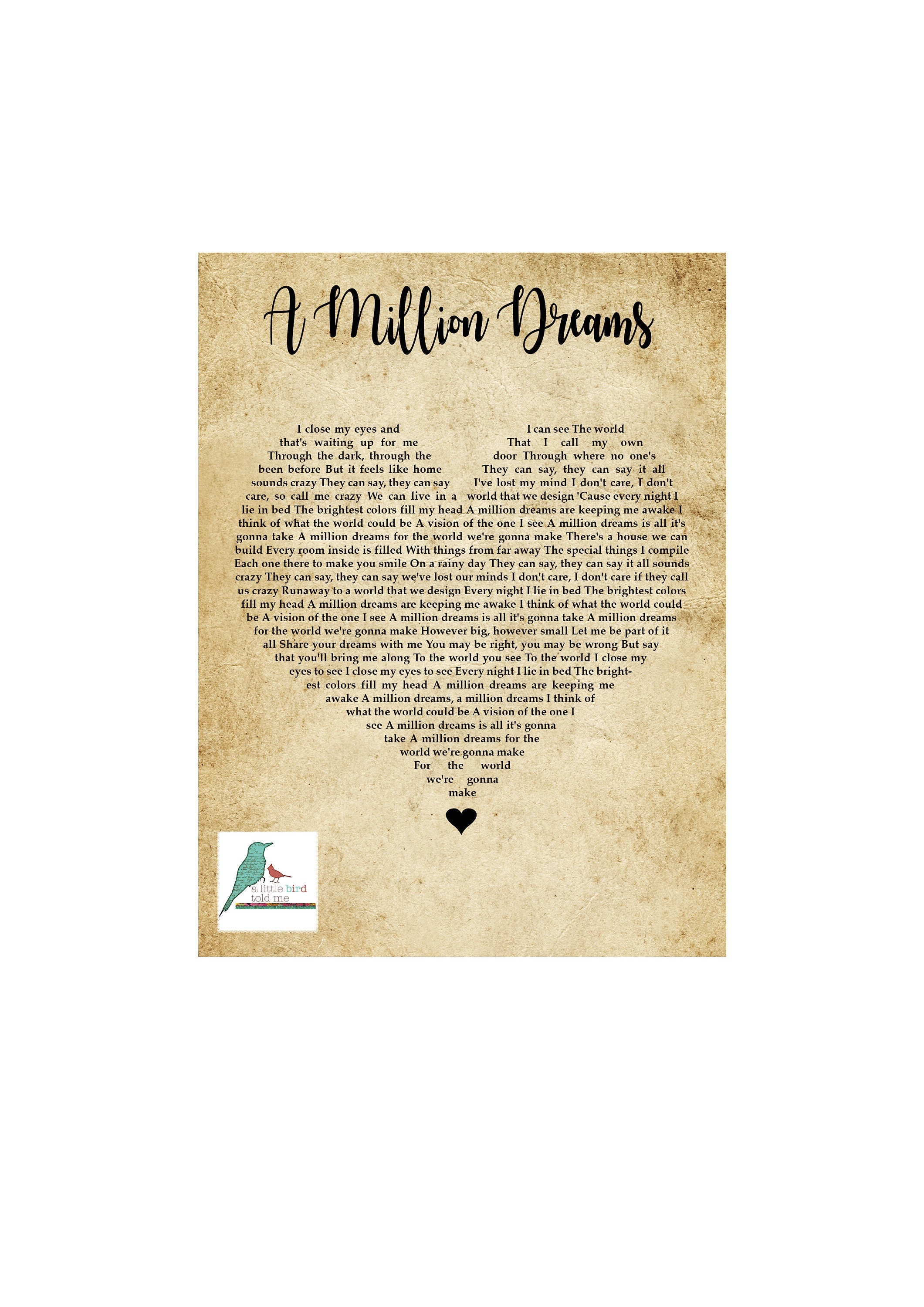graphic regarding A Million Dreams Lyrics Printable called Complete Lyrics Of A Million Wants Lyrics Middle
