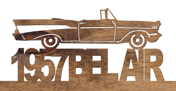 1957 GMC Pickup Truck Wood Ornament Engraved