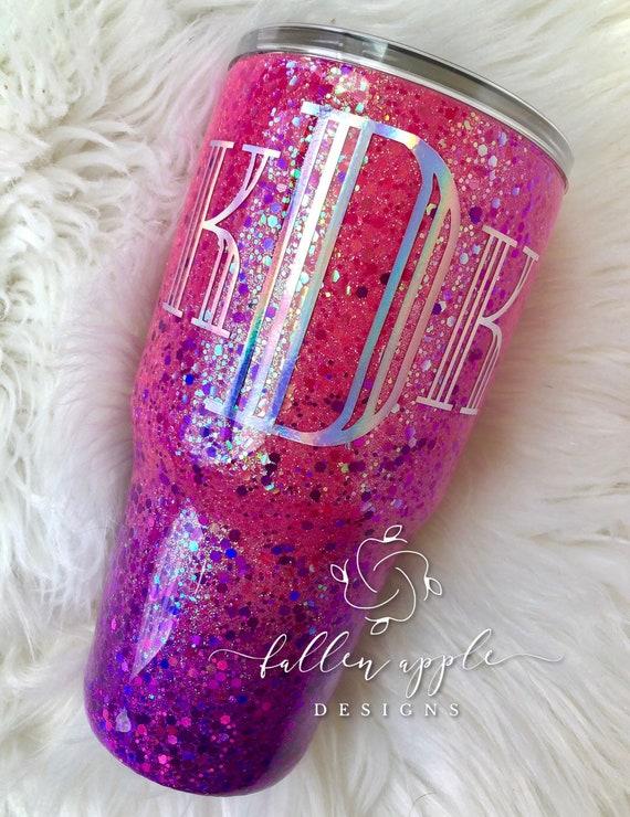 décorations Ensemble de 12 x rose et violet lilas pailleté coeur tasse gâteau anneaux