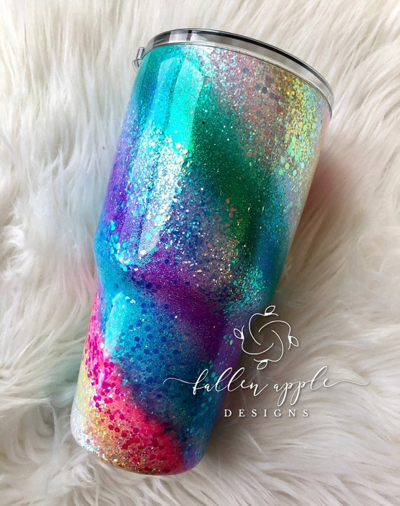 Pink sparkle swirl Tumbler