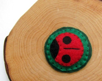 CLEARANCE Ladybug Handmade Felt Hair Clip