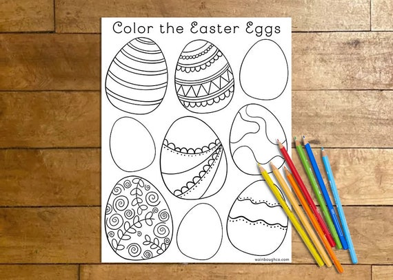 Easter Egg Coloring Page Coloring Pages for Kids Spring