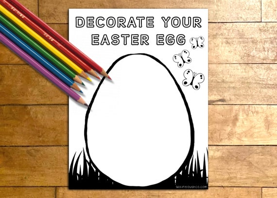 Easter Egg Decorating Printable Activity Page Kids and