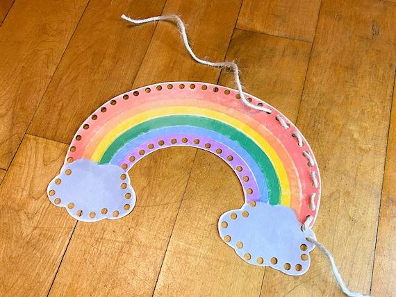 Rainbow Lacing Printable Busy Bag Activity Fine Motor