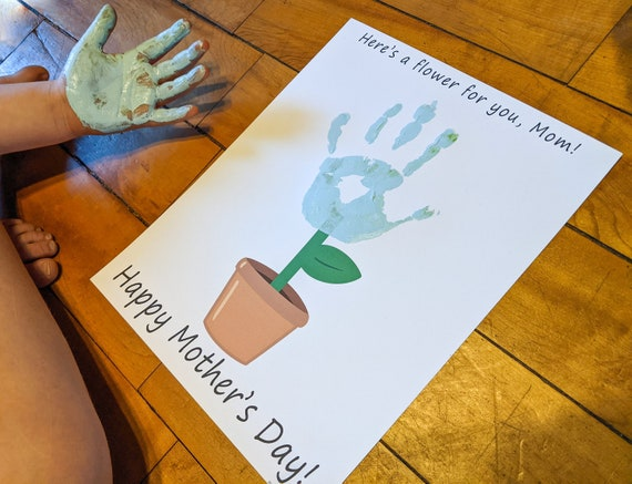 Mother's Day Handprint Craft Kid Gift for Mom Printable
