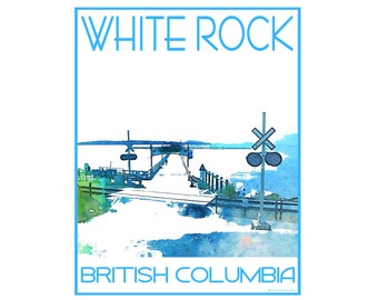 White Rock Pier B.C. - Love This Place Cityscape - Art Print on Paper - Home Decor Tourism Gift Photo TheJitterbugShop Vancouver