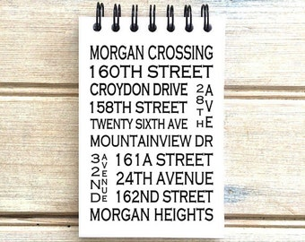 Morgan Heights / Morgan Crossing South Surrey BC - Love This Place - Street Name Notebook - Busroll Notepad Gift B.C. - Vancouver Canada