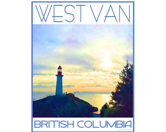 Lighthouse Park West Vancouver B.C. - Love This Place Cityscape - Art Print on Paper - Home Decor Tourism Gift Photo TheJitterbugShop