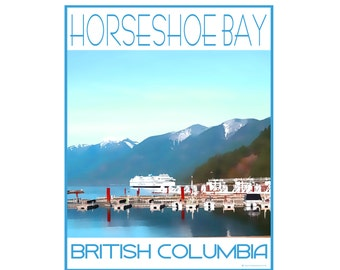 Horseshoe Bay West Vancouver B.C. - Love This Place Cityscape - Art Print on Paper - Home Decor Tourism Gift Photo TheJitterbugShop