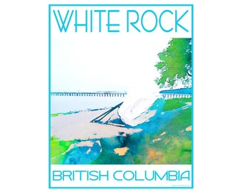 White Rock Beach B.C. - Love This Place Cityscape - Art Print on Paper - Home Decor Tourism Gift Photo TheJitterbugShop