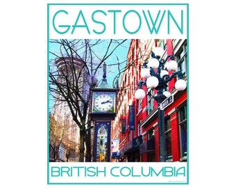 Gastown Vancouver B.C. - Love This Place Cityscape - Art Print on Paper - Home Decor Tourism Gift Photo TheJitterbugShop
