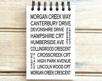 Morgan Creek South Surrey B.C. - Love This Place - Street Name Notebook - Busroll Notepad Journal Custom Gift B.C. - Vancouver Canada
