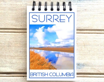 Surrey B.C. Canada - Love This Place - Cityscape Notebook - Vancouver - Notepad Custom Gift - The Jitterbug Shop