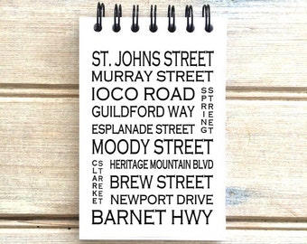 Port Moody B.C.  - Love This Place - Street Name Notebook - Busroll Notepad Journal Custom Gift B.C. - Vancouver Canada