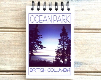 Ocean Park B.C. - Love This Place - Cityscape Notebook - White Rock Surrey Vancouver Canada - Notepad Custom Gift - The Jitterbug Shop