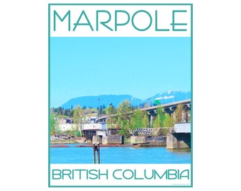 Marpole Vancouver - Love This Place Cityscape - Art Print on Paper - Home Decor Tourism Gift Photo TheJitterbugShop