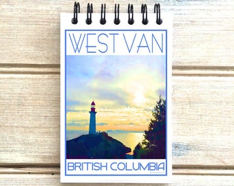Lighthouse Park West Vancouver - Love This Place - Cityscape Notebook - Vancouver B.C. Canada - Notepad Custom Gift - The Jitterbug Shop
