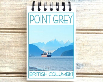 Point Grey Vancouver BC - Love This Place - Cityscape Notebook - Canada - Notepad Custom Gift - The Jitterbug Shop
