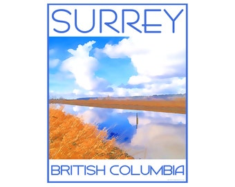 Surrey B.C. - Love This Place Cityscape - Art Print on Paper - Home Decor Tourism Gift Photo TheJitterbugShop