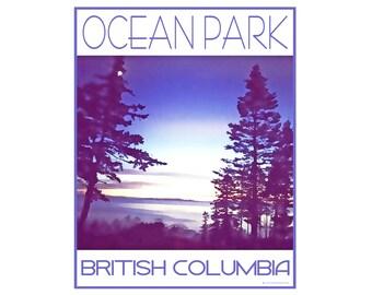 Ocean Park B.C. - Love This Place Cityscape - Art Print on Paper - Gift Tourist Home Decor Vancouver White Rock South Surrey