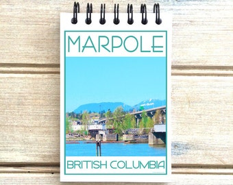 Marpole Vancouver B.C. - Love This Place - Cityscape Notebook - Notepad Custom Gift Canada - The Jitterbug Shop